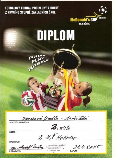 McDonald Cup 2. místo