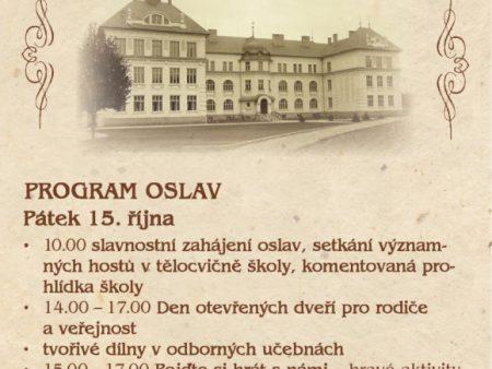 Pozvánka na oslavy 110. výročí 2. Základní školy Holešov